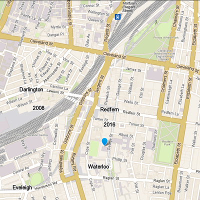 City - Redfern_map