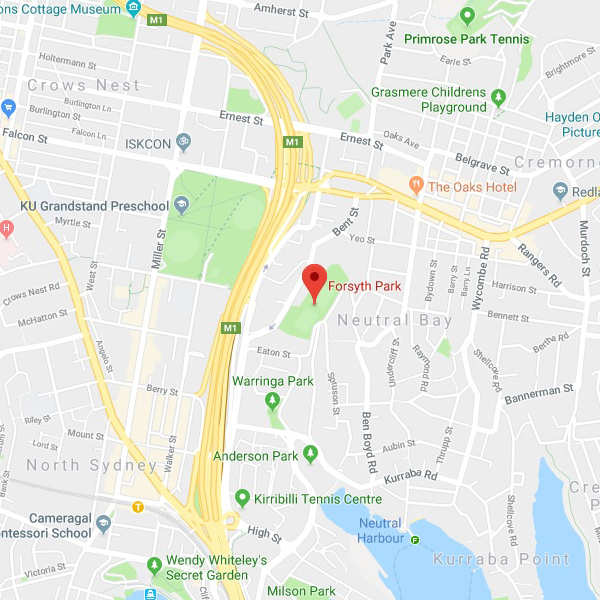 North Sydney - Forsyth Park_map