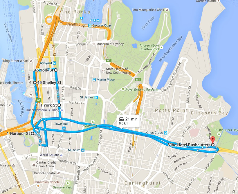 City - Rushcutters Bay_map